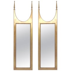 Pair of Hollywood Regency Gilded Mirrors in the Manner of Tommi Parzinger