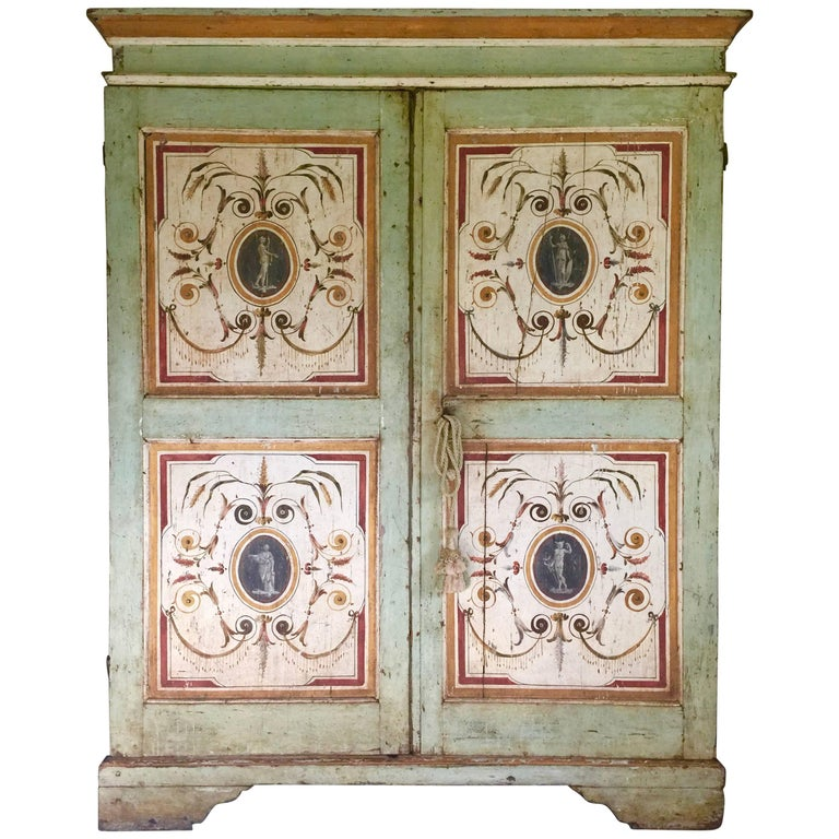 Painted Armoire, Gustavian