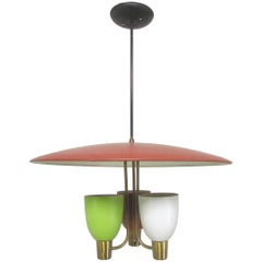 Pendant Chandelier, circa 1950s, style of Gerald Thurston for Lightolier