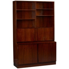 Danish Rosewood Wall Unit and Desk by Omann Jun