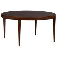 Round Danish Rosewood Coffee Table