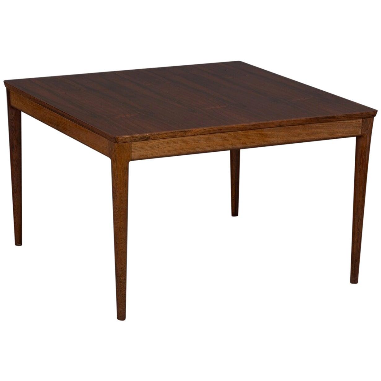 Square Danish Modern Mid-Century Rosewood Coffee Table