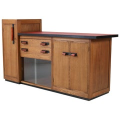 Dutch Oak Art Deco Haagse School Sideboard or Credenza by Jan Brunott, 1920s