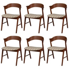 Set of Six Model 32 Teak Dining Chairs by Kai Kristiansen