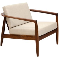 Midcentury Walnut Lounge Chair, Folke Ohlsson for DUX