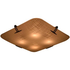 Ceiling Flush Fixture by Carl Moser for Lightolier Model 4924