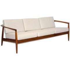 Walnut Midcentury Sofa, Folke Ohlsson for DUX