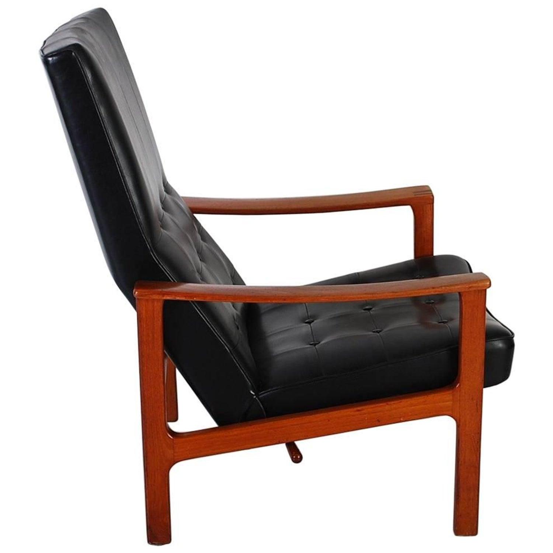unique pair mid-century modern bröderna andersson teak recliner