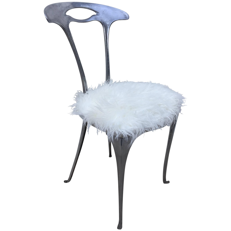Arthur Court Aluminum Free Form Petite Modernist Chair