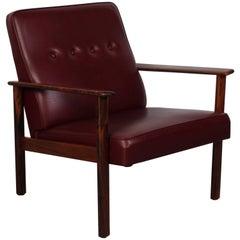Midcentury Scandinavian Rosewood Lounge Chair