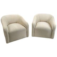Pair of Club Chairs by Sally Sirkin Lewis for J. Robert Scott, circa 1980s
