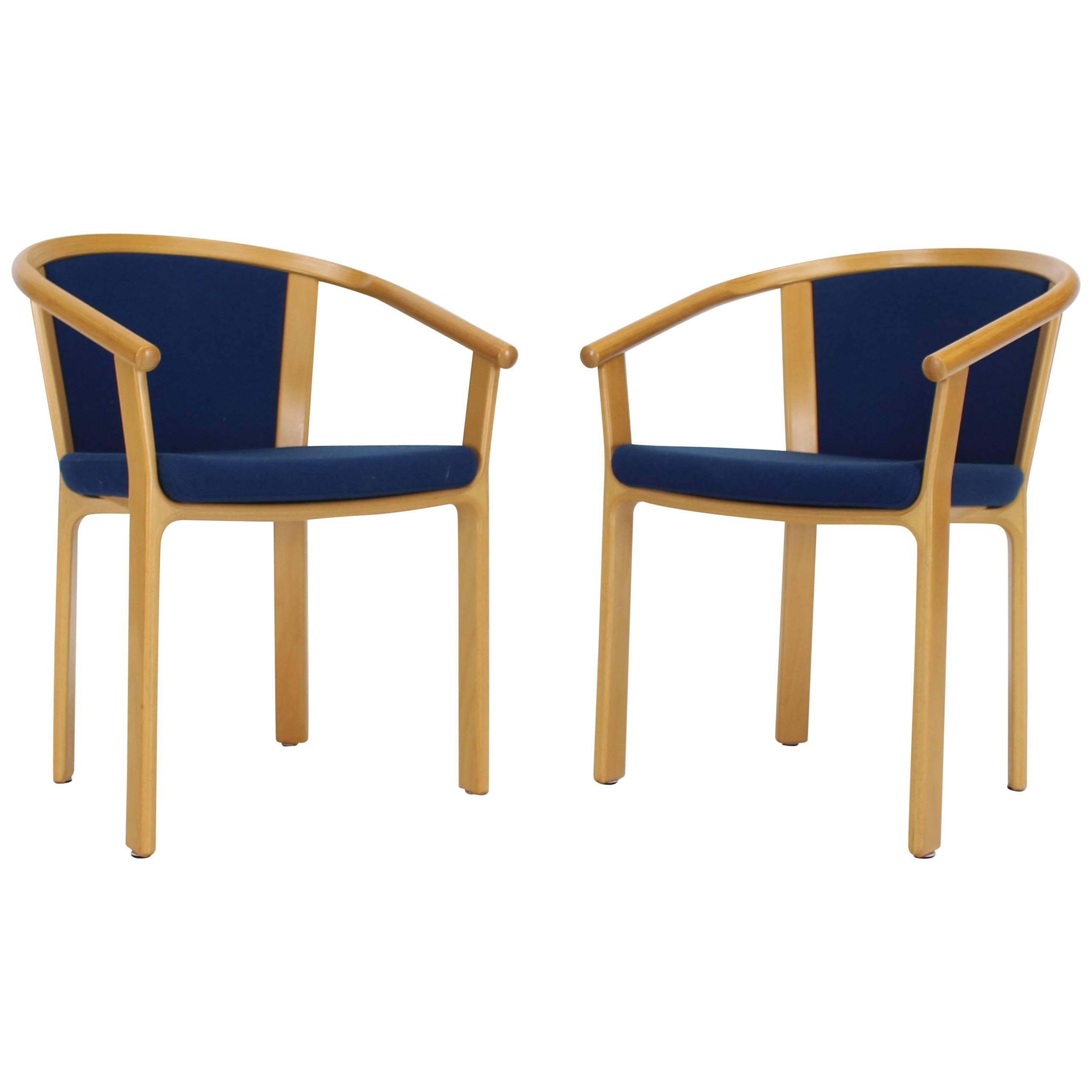 Pair Of Danish Modern Barrel Back Chairs