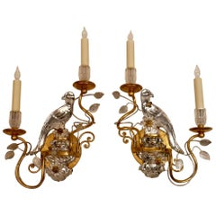 Four Bagues Style Two-Light Sconces