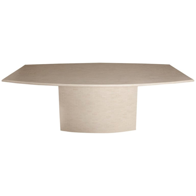 Tessellated Bone Dining Table by Enrique Garces For Sale