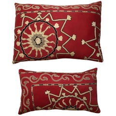 Pair of Antique Suzani Pillows