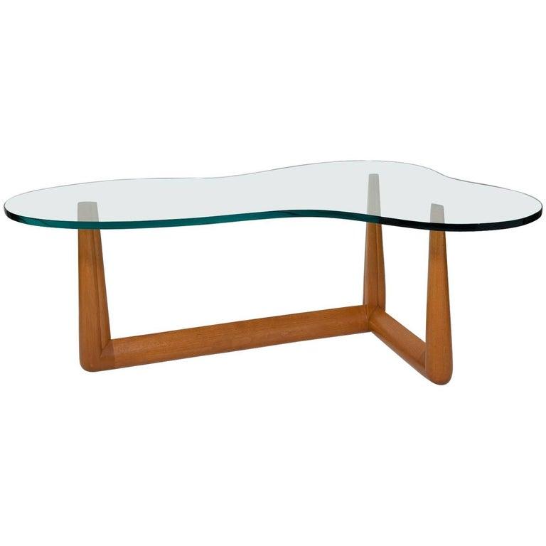 Biomorphic Coffee Table by T. H. Robsjohn-Gibbings, circa 1955 For Sale