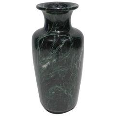 Postmodern Green Marble Urn Form Vase