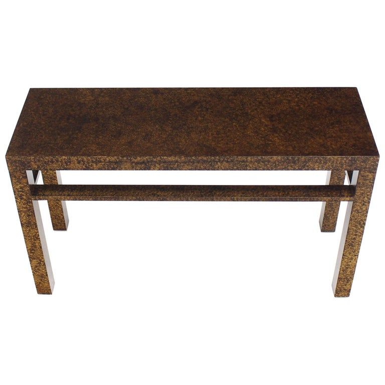 Faux Tortoise Finish Console Table