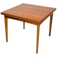 "Danish Teak Flip-Top ""Square"" Dining or Game Table"
