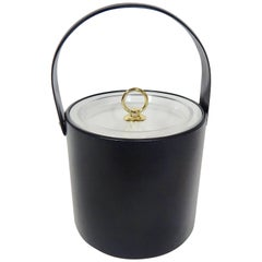 1960s Georges Briard Ice Bucket in Black and Gold