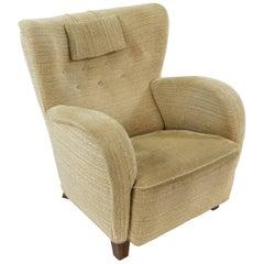 Danish Midcentury Easy Chair in the Style of Fritz Hansen