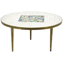 Italian Murano Glass Tile-Top Coffee Table