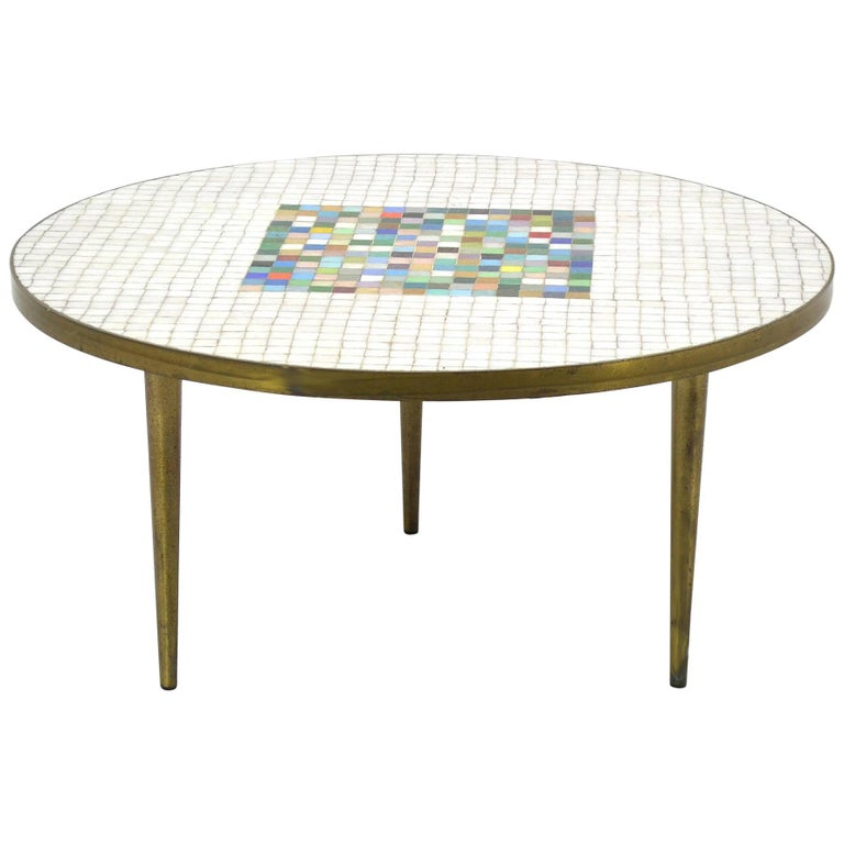 Italian Murano Glass Tile-Top Coffee Table 1
