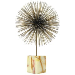 C. Jeré Dandelion Sculpture with Onyx Base
