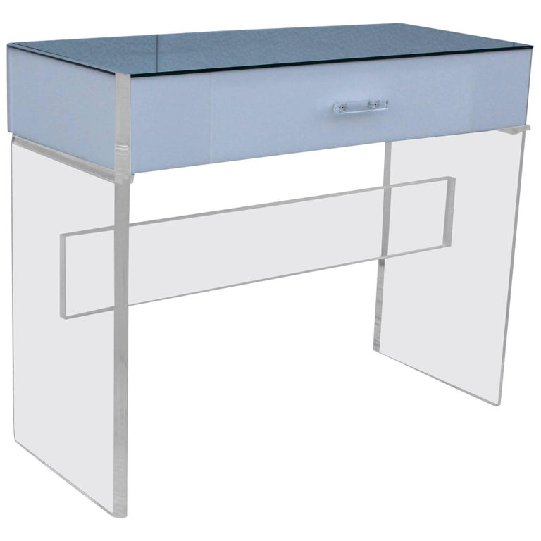 Lucite Writing Desk with Drawers at 1stdibs