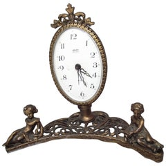 Antique Vanity Clock, Antique Bed Side Table Clock