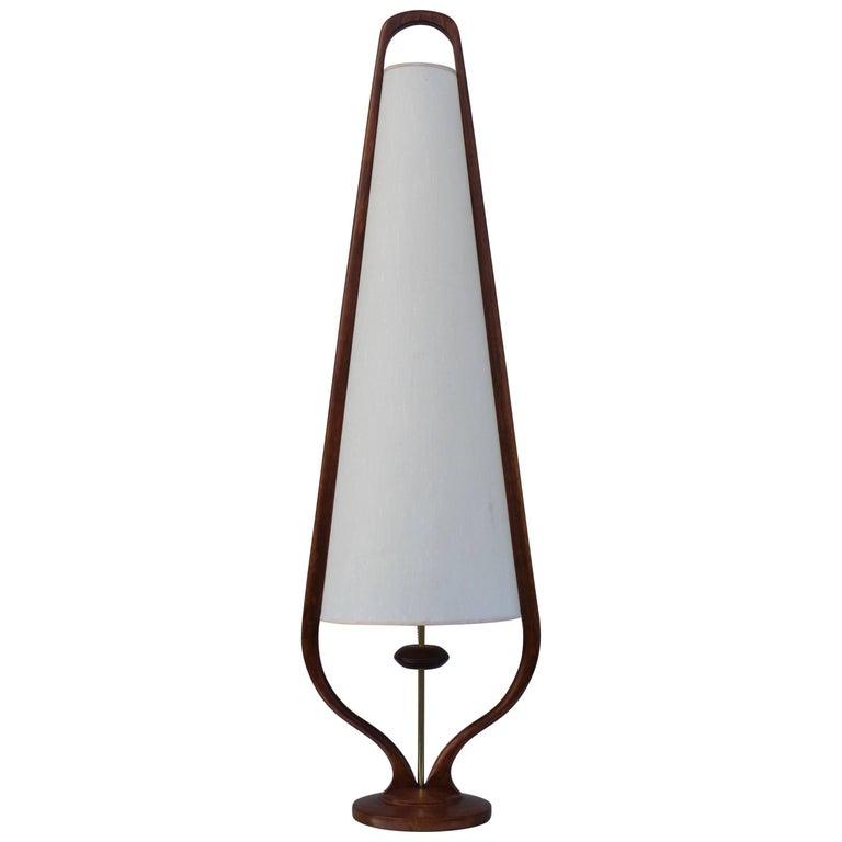 Modeline Tall Walnut Table Lamp