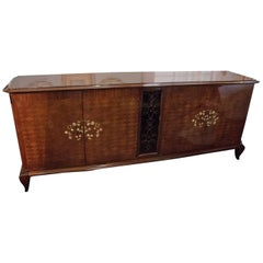 Monumental Attribution to Jules Leleu Art Deco Sideboard or Buffet