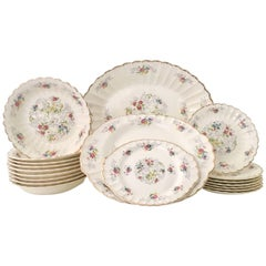 "Midcentury American Limoges Dinnerware ""Jennie Lind"" Set of 19"