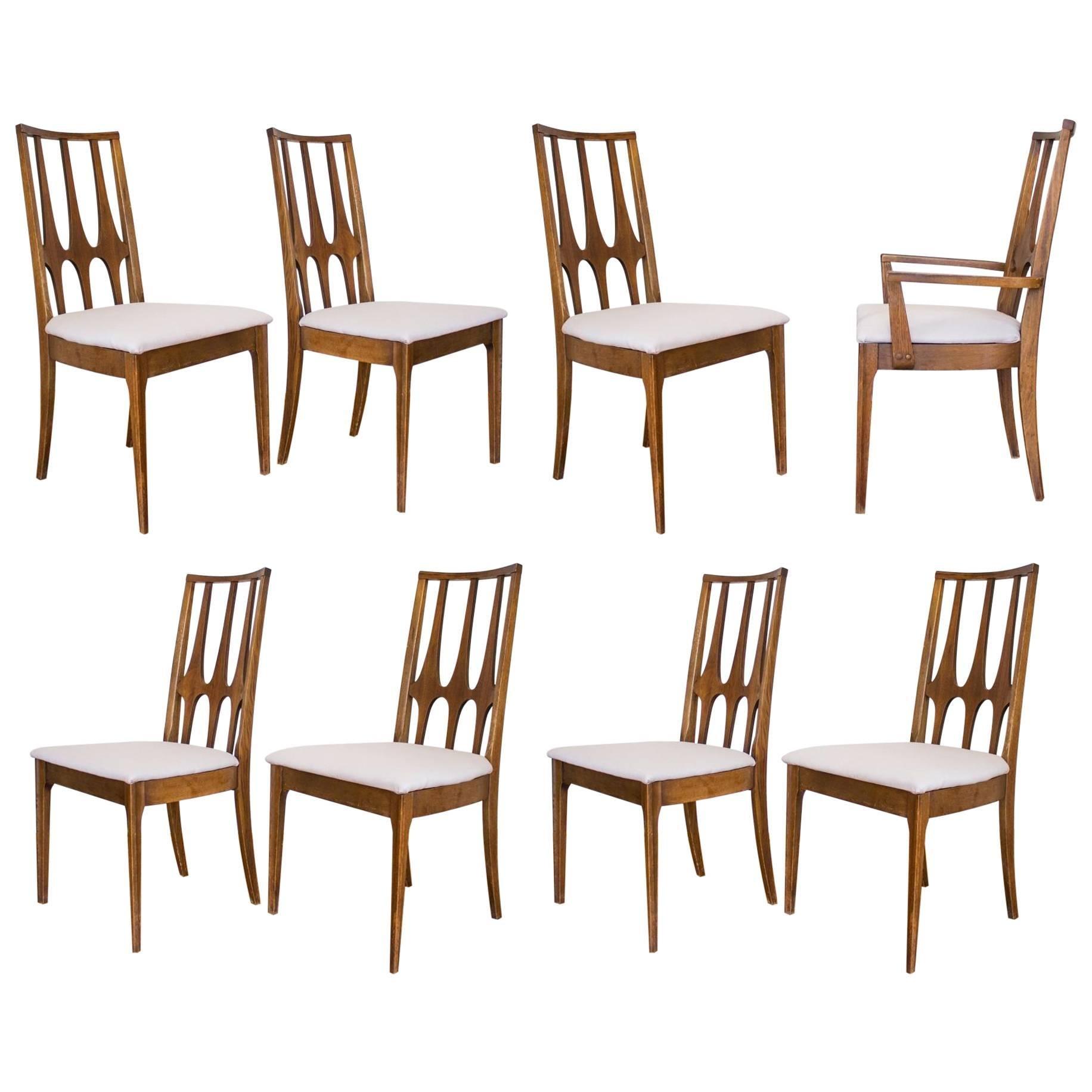 Set Of Eight Mid Century Modern Broyhill Brasilia Dining Chairs