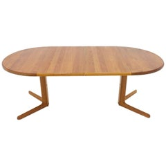 Teak Dining Table with Two Extensions, 1960s