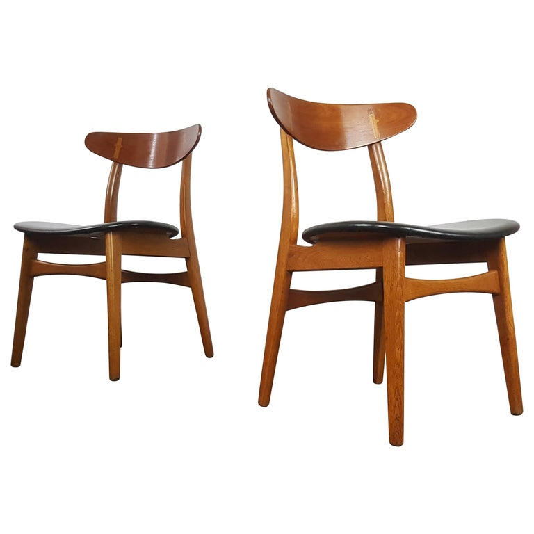 hans j wegner ch33 dining chairs for sale at 1stdibs. Black Bedroom Furniture Sets. Home Design Ideas