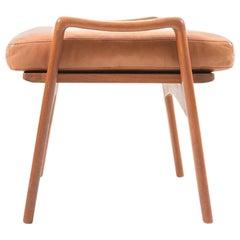 Midcentury Danish Teak Footstool by Arne Wahl Iversen for Komfort