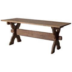 Table Trestle Swedish, 19th Century, Sweden