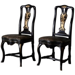 Chairs Pair of Chinoiserie 18th Century Sweden