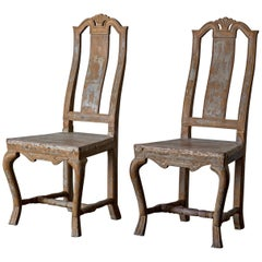 Chairs Side Chairs Swedish Baroque, 18th Century, Sweden