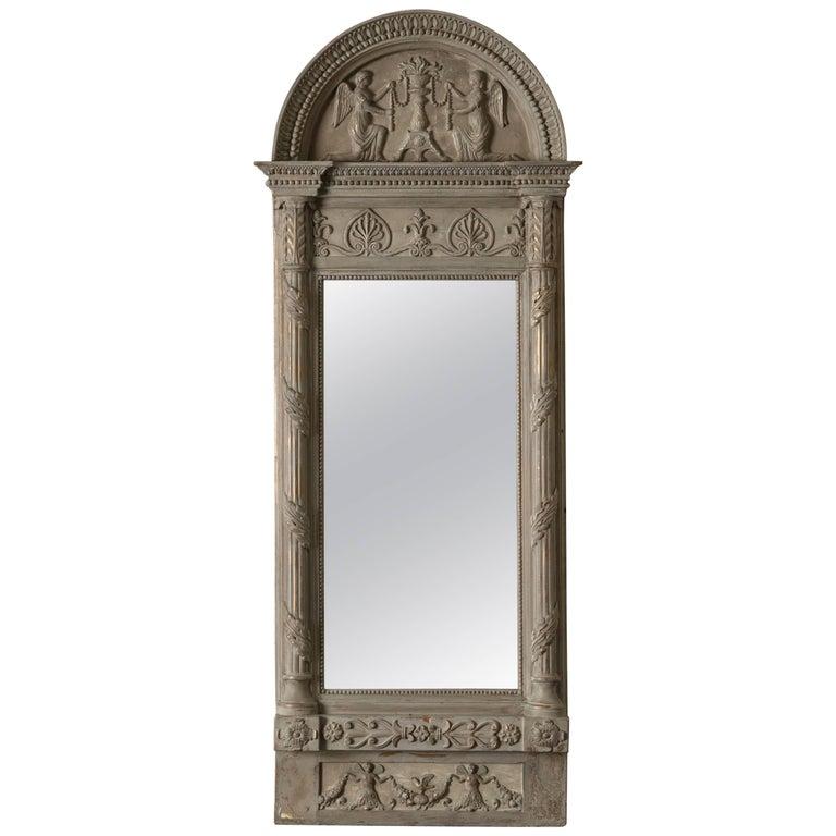 Mirror Swedish Empire Neoclassical Signed, 19th Century, Sweden