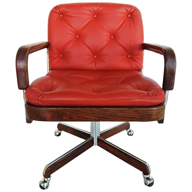 Excellent Rare Leather Swivel Armchair By Ag Barcelona Circa 1970 At Creativecarmelina Interior Chair Design Creativecarmelinacom