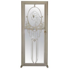 French Art Deco Painted Iron Wardrobe, circa 1930s