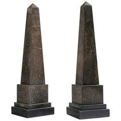 Pair of Marble Obelisks