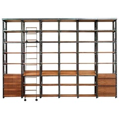 """Tecnica Library"" Modular Shelving Bookcase by Jaume Tresserra for Dessie'"
