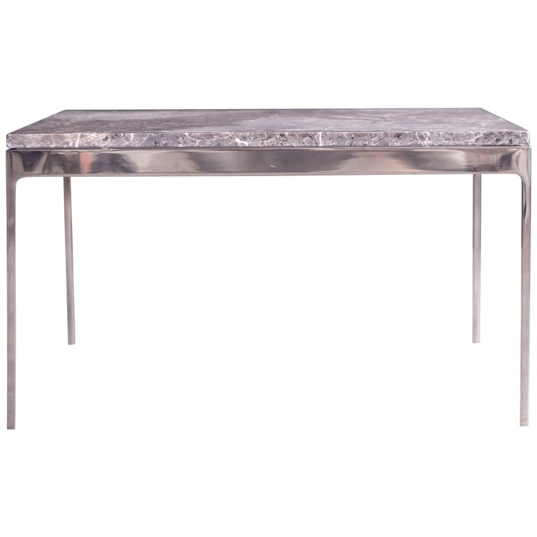 Coffee Table by Nicos Zographos with Spectacular Stone Top