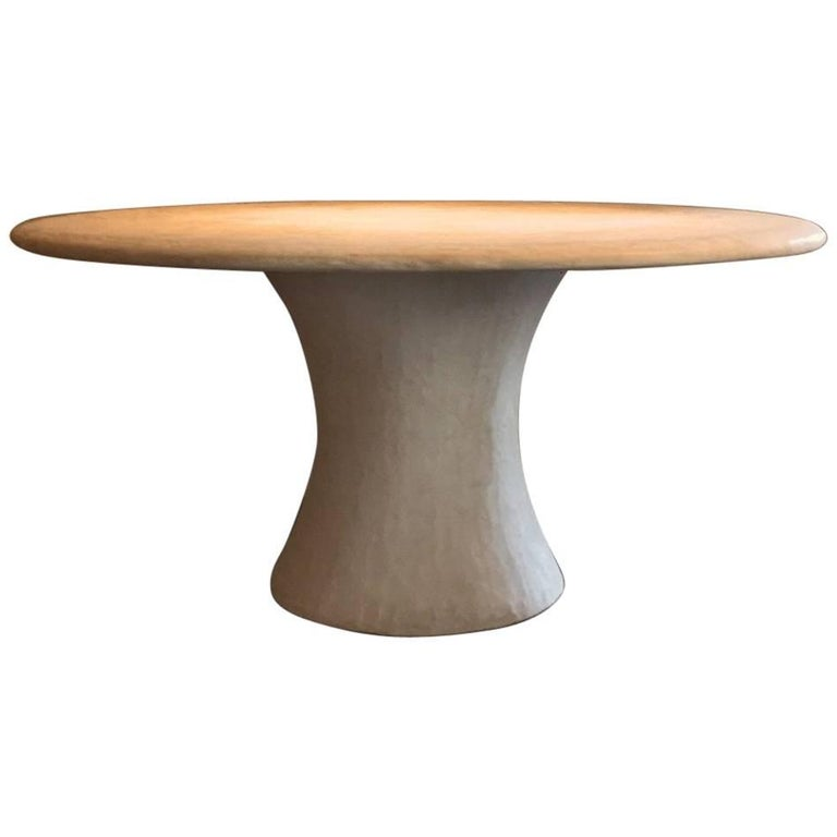 Custom Made Oval Table Stone Tadelakt