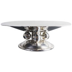 Exceptional Art Deco Silver Plated Centrepiece Dish by Luc Lanel for Christofle