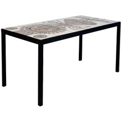 Ceramic Coffee Table by Jacques Poussine for Sant Vincens, circa 1960, France