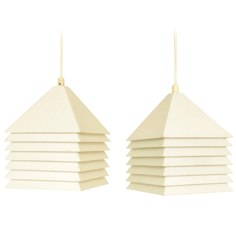 Set of Two Pendant Lamps by Hans-Agne Jakobsson for Svera, Sweden, 1960s